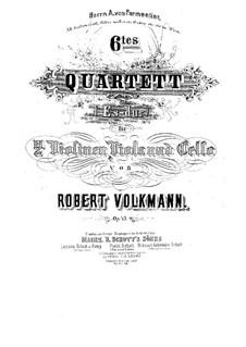 String Quartet No.6 in E Flat Major, Op.43: Parts by Robert Volkmann