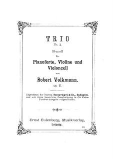 Piano Trio No.2 in B Flat Minor, Op.5: Full score by Robert Volkmann