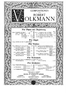 Sonatina for Violin and Piano No.1, Op.60: Score by Robert Volkmann