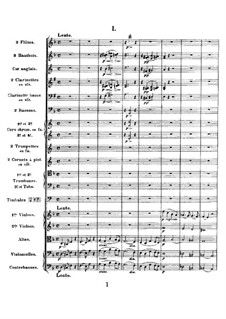 Simphony in D Minor, Op.48: Full score by César Franck