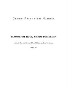 Flammende Rose, Zierde der Erden, HWV 210: Partitur by Georg Friedrich Händel