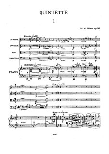 Piano Quintet No.2, Op.68: Full score, Parts by Charles-Marie Widor
