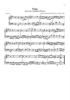 Aylesford Pieces: Fugue by Georg Friedrich Händel