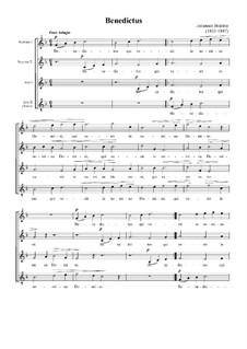 Benedictus, WoO 18: Benedictus by Johannes Brahms