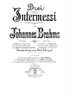 Seven Fantasias, Op.116: No.4 Intermezzo in E Major by Johannes Brahms