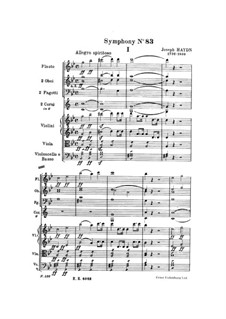 Symphony No.83 in G Minor 'The Hen', Hob.I/83: Full score by Joseph Haydn