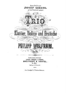Piano Trio in B Minor, Op.24: Piano Trio in B Minor by Philipp Wolfrum