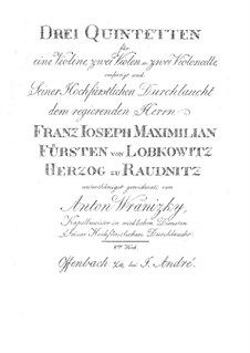 Three String Quintets, Op.8: Parts by Anton Wranitzky