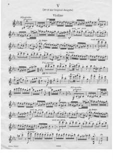 Dance No.19 in B Minor: Violin solo part by Johannes Brahms
