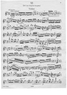 Dance No.7 in F Major: Violin solo part by Johannes Brahms