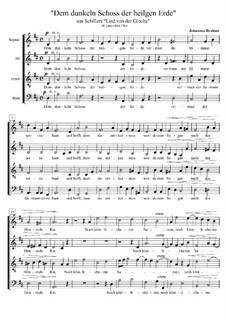 Dem dunklen Schoss der heilgen Erde, WoO 20: Dem dunklen Schoss der heilgen Erde by Johannes Brahms
