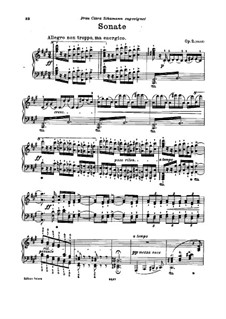 Sonata for Piano No.2 in F Sharp Minor, Op.2: For a single performer by Johannes Brahms