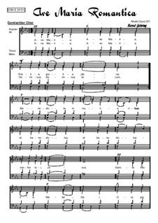 Alte Marienlieder Nr.09: Ave Maria Romantica, Op.241: Alte Marienlieder Nr.09: Ave Maria Romantica by Bernd Gehring