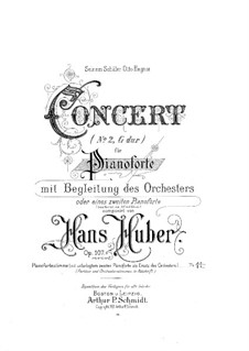 Piano Concerto No.2, Op.107: Movement I, for Two Pianos Four Hands by Hans Huber