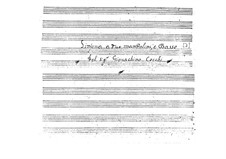 Symphony for Two Mandolins and Basso Continuo: Score by Gioacchino Cocchi
