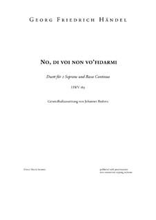 No di voi non vo' fidarmi, HWV 189: No di voi non vo' fidarmi by Georg Friedrich Händel