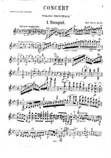 Violin Concerto No.1 in G Minor, Op.26: Violin solo part by Max Bruch