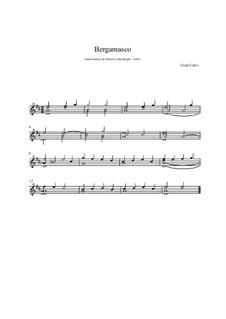 Bergamasco for Guitar: Bergamasco for Guitar by Carlo Calvi