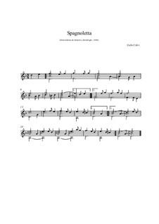 Spagnoletta for Guitar: Spagnoletta for Guitar by Carlo Calvi