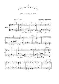 Zur guten Nacht (Good Night), D.903 Op.81 No.3: Arrangement for piano by Franz Schubert