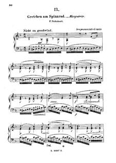 Gretchen am Spinnrade (Gretchen at the Spinning Wheel), D.118 Op.2: Arrangement for piano by Franz Schubert