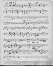 Anna Bolena: Selected Melodies, for guitar by Gaetano Donizetti