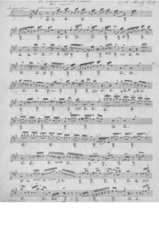 Le Carneval de Venice, Op.6: For guitar (manuscript) by Johann Kaspar Mertz