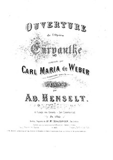 Overture: For piano by Carl Maria von Weber