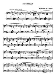 Four Pieces, Op.119: No.2 Intermezzo in E Minor by Johannes Brahms