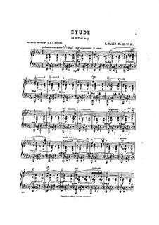 Six suites d'etudes pour le pianoforte, Op.15: Suite IV, No.3 by Ferdinand von Hiller