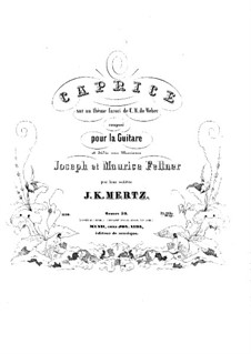 Caprice on Theme by Weber, Op.50: For guitar by Johann Kaspar Mertz