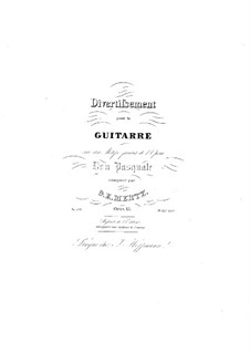 Divertissement on Theme from 'Don Pasquale' by Donizetti , Op.15: For guitar by Johann Kaspar Mertz