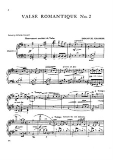 Three Romantic Waltzes: Waltz No.2  by Emmanuel Chabrier
