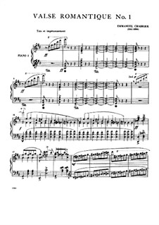 Three Romantic Waltzes: Waltz No.1 by Emmanuel Chabrier