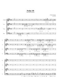 Psalm No.150, FWV 69: For choir and orchestra – choir part by César Franck