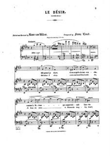Le désir: Le désir by Franz Liszt