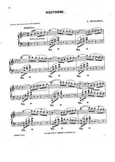 Nocturne for Piano: Nocturne for Piano by Giuseppe Buonamici
