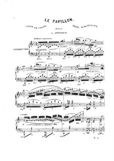 Le papillon. Valse de salon: For piano by Jacques Offenbach