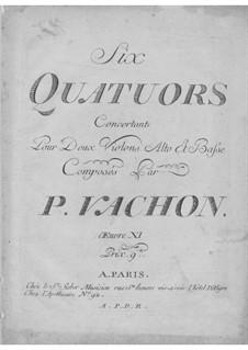 Six String Quartets, Op.11: Six String Quartets by Pierre Vachon