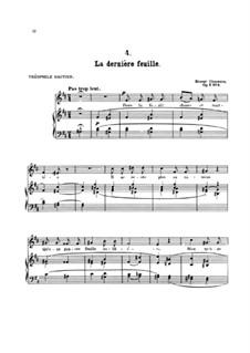 Seven Melodies for Voice and Piano, Op.2: No.4 La dernière feuille by Ernest Chausson