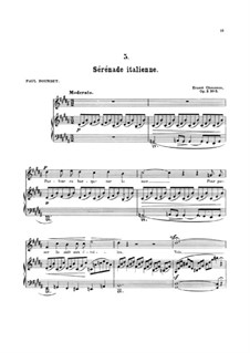 Seven Melodies for Voice and Piano, Op.2: No.5 Sérénade italienne by Ernest Chausson
