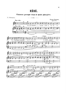 Seven Melodies for Voice and Piano, Op.2: No.6 Hébé by Ernest Chausson