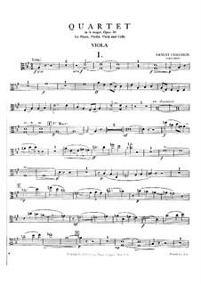 Piano Quartet in A Major, Op.30: Viola part by Ernest Chausson