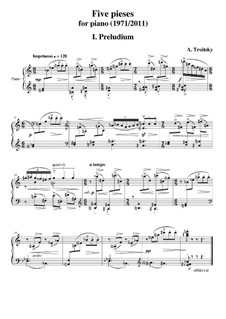 Five Pieces (1981/2011): For piano by Arkadi Troitsky