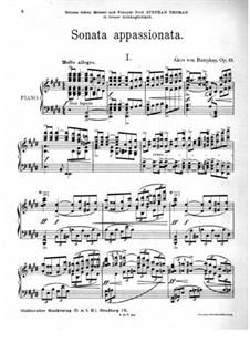 Sonata appassionata, Op.13: Sonata appassionata by Ákos Buttykay