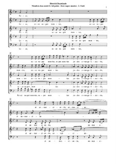 Membra Jesu Nostri (The Limbs of our Jesus), BuxWV 75: Fragments by Dietrich Buxtehude