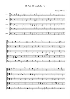 As it Fell on a Holie Eve: Full score by Anthony Holborne