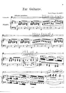 Spanish Dances for Cello and Piano, Op.54: Dance No.1 – score, solo part by David Popper