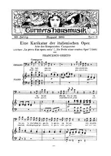 La prova d'un opera seria: Aria Campanone, for voice, choir and piano by Francesco Gnecco