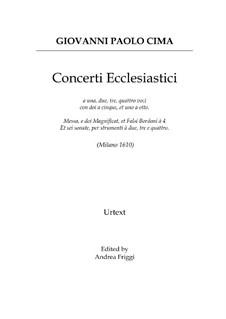 Concerti Ecclesiastici: Concerti Ecclesiastici by Giovanni Paolo Cima